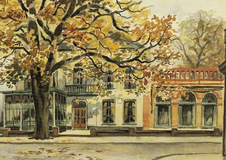 """Hotel """"Hof van Gelderland"""" in Ede - Schilderij van de toen in Lunteren wonende Thijs Mauve"""