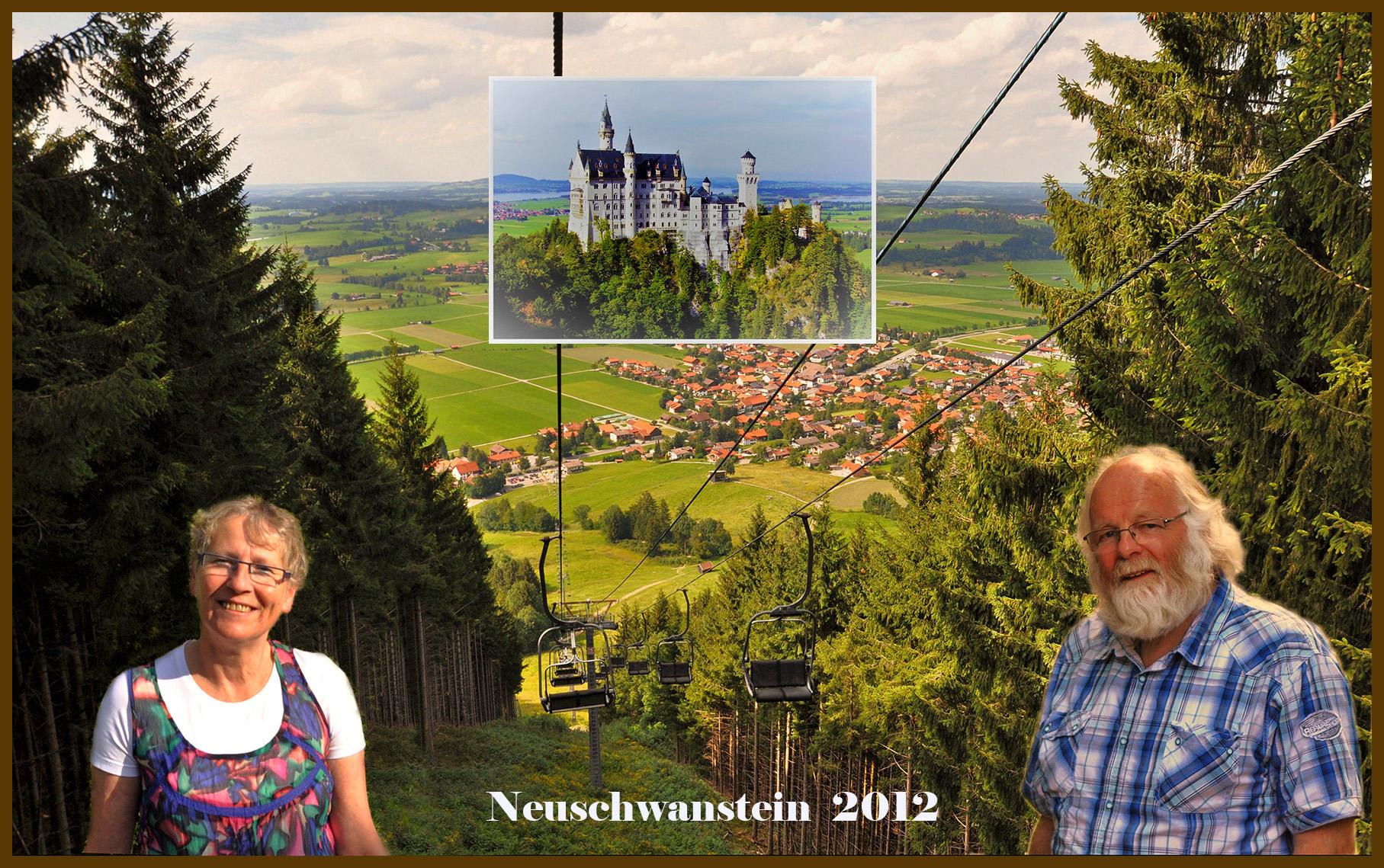 Fransien en ik brachten in augustus 2012 een bezoek aan het Slot Neuschwanstein - Eigen foto: ©Fransien & Louis Fraanje