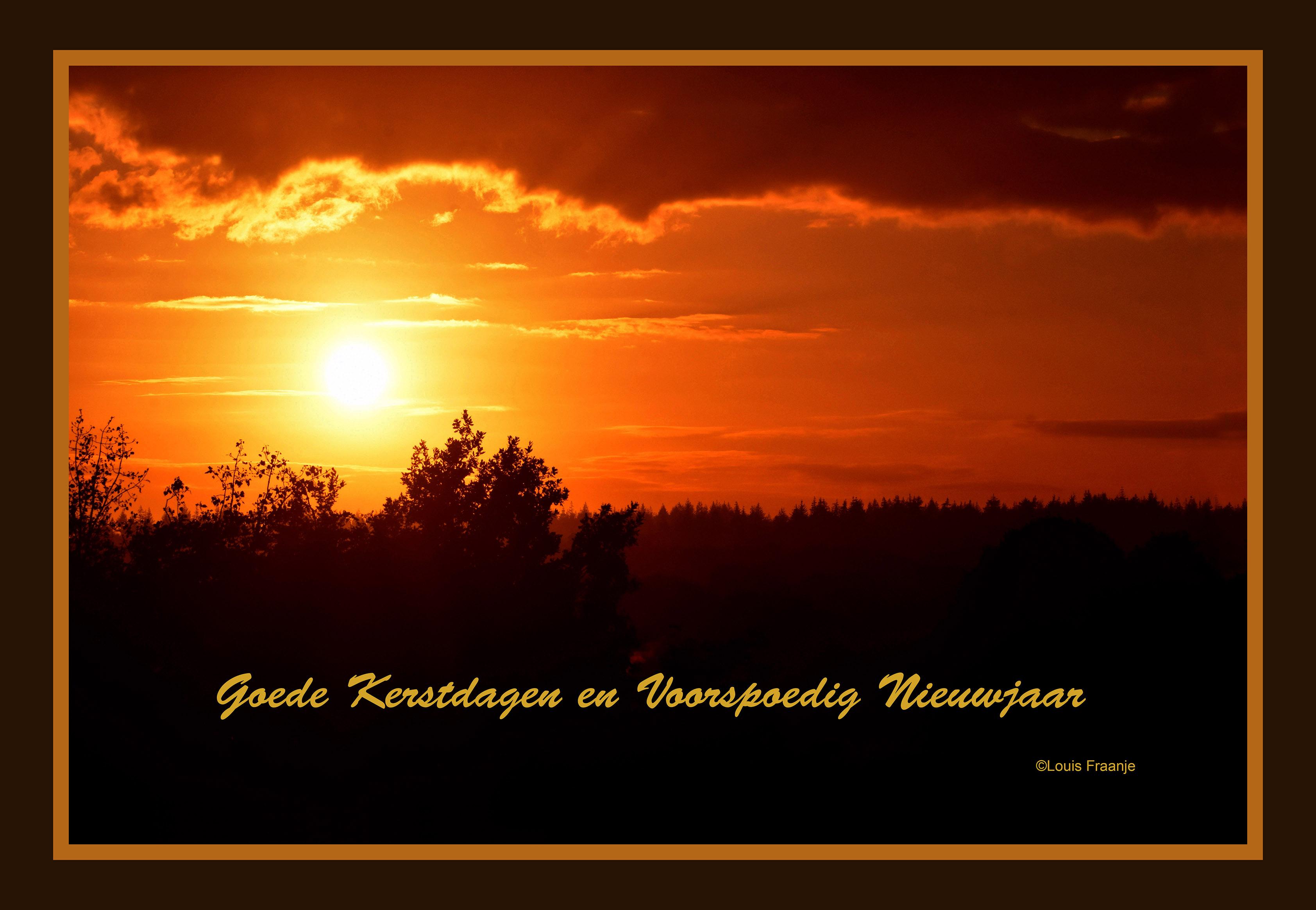 Prachtige zonsopkomst boven de Veluwse bossen - Foto: ©Louis Fraanje