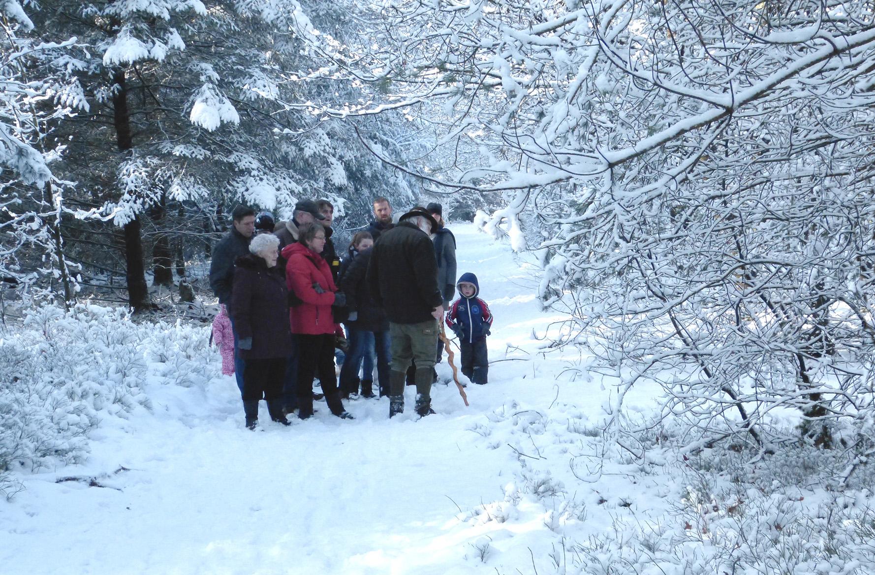 Een natuurwandeling in de winter bij Hoenderloo op 10 februari 2013 - Foto: ©Fransien Fraanje