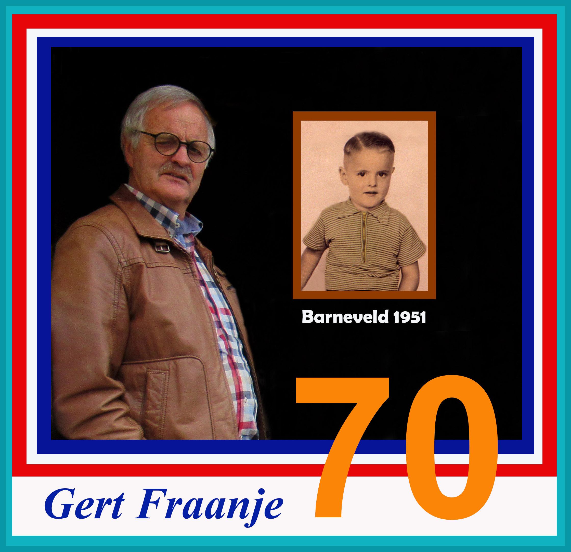 Mijn broer Gert op zijn 70e verjaardag en het kleine broertje in 1951 - Foto: ©Louis Fraanje