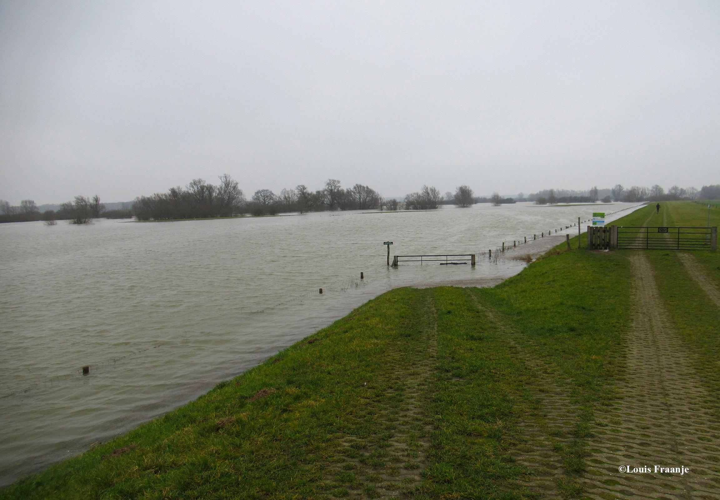 Het lage land staat volledig onder water - Foto: ©Louis Fraanje