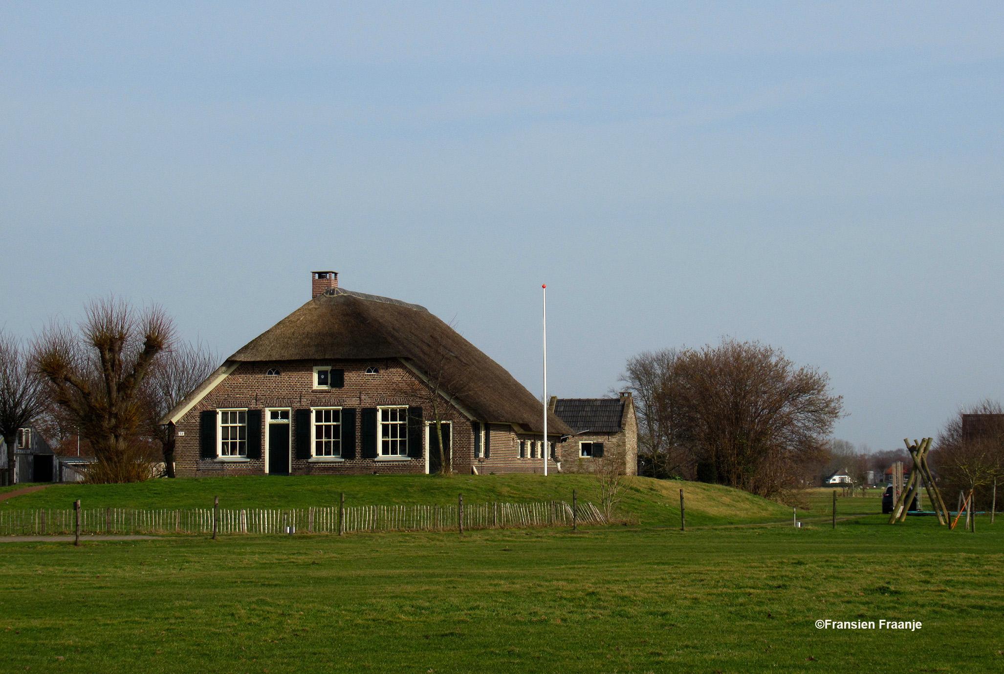 Als we vanuit Oosterwolde naar Kerkdorp rijden, genieten wij van de mooie boerderijen die hier op terpen of pollen gebouwd zijn, tegen het hoge water - Foto: ©Fransien Fraanje