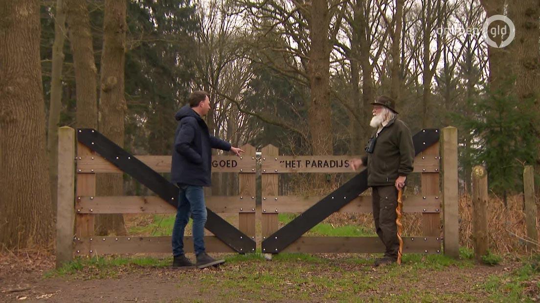 """Jochem van Gelder ontmoet Louis Fraanje op Landgoed Het Paradijs in """"Gelders Grijs"""" - Foto: ©Omroep-Gelderland"""