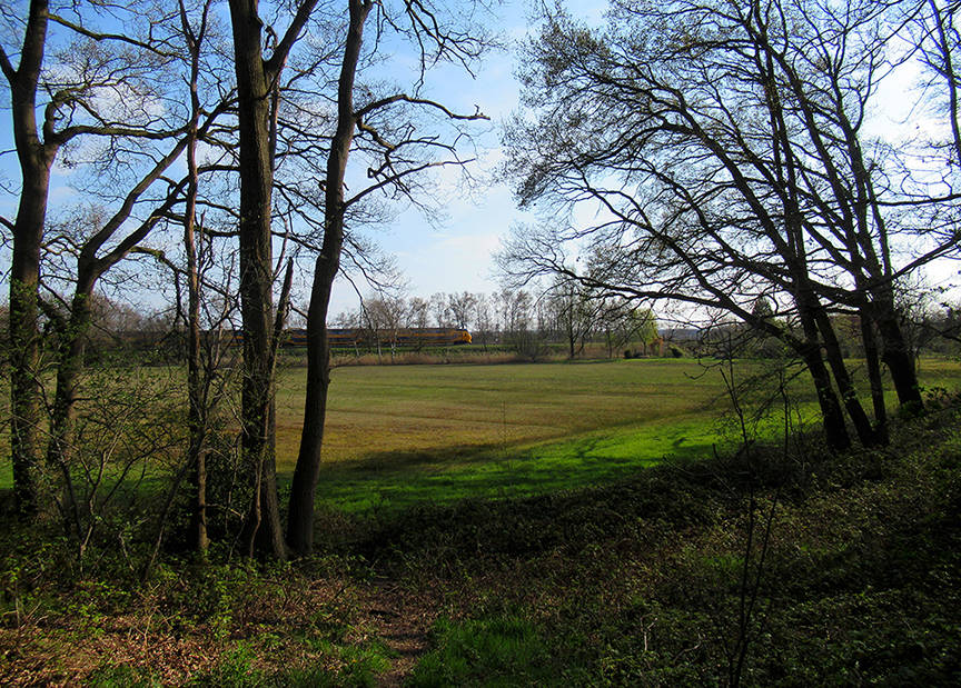 Een mooi doorkijkje in de richting van de spoorlijn Arnhem-Utrecht - ©Fransien Fraanje