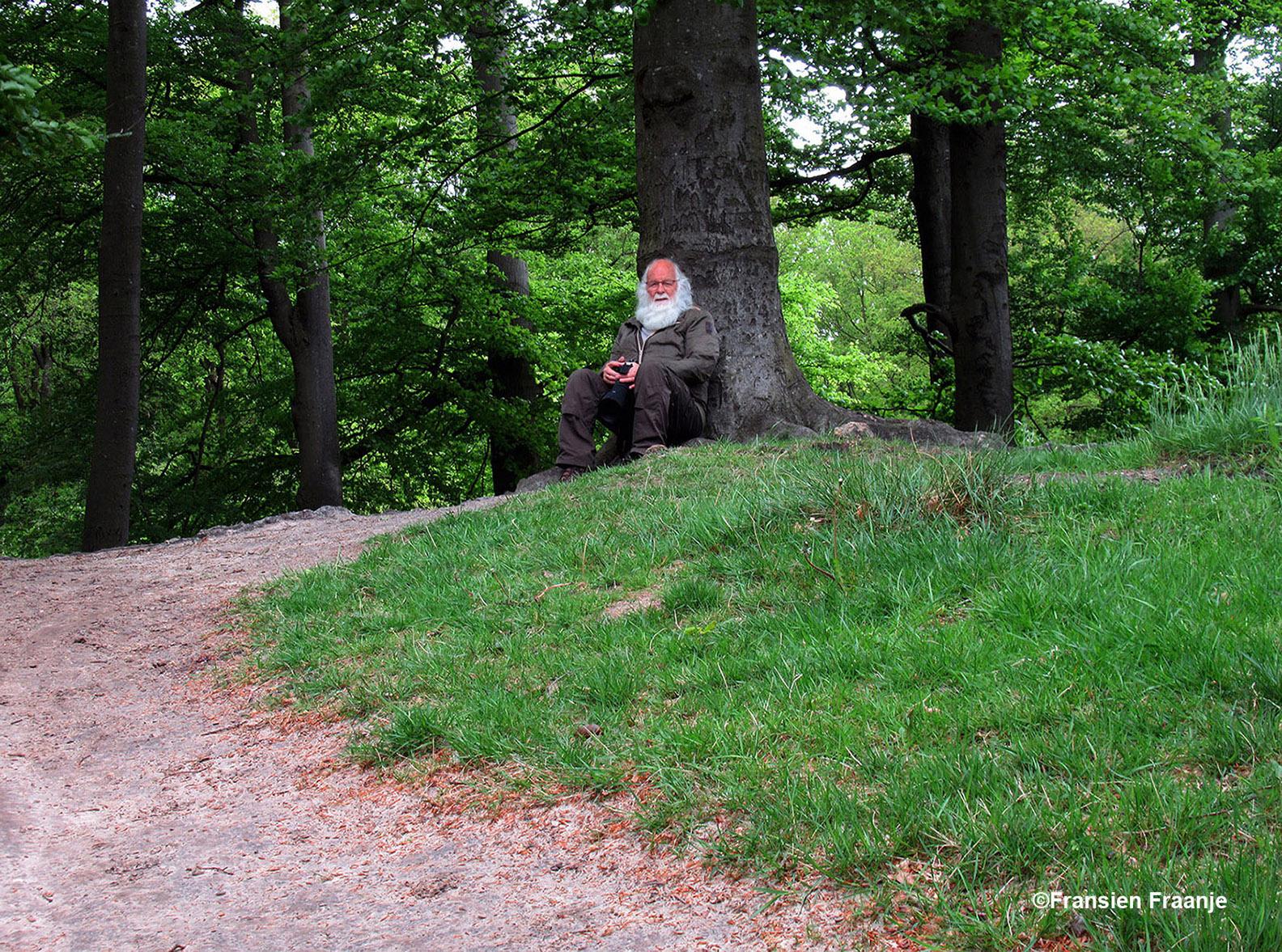 Gewoon lekker met je rug tegen zo'n oude boom zitten net als vroeger en even wegdromen - Foto: ©Fransien Fraanje