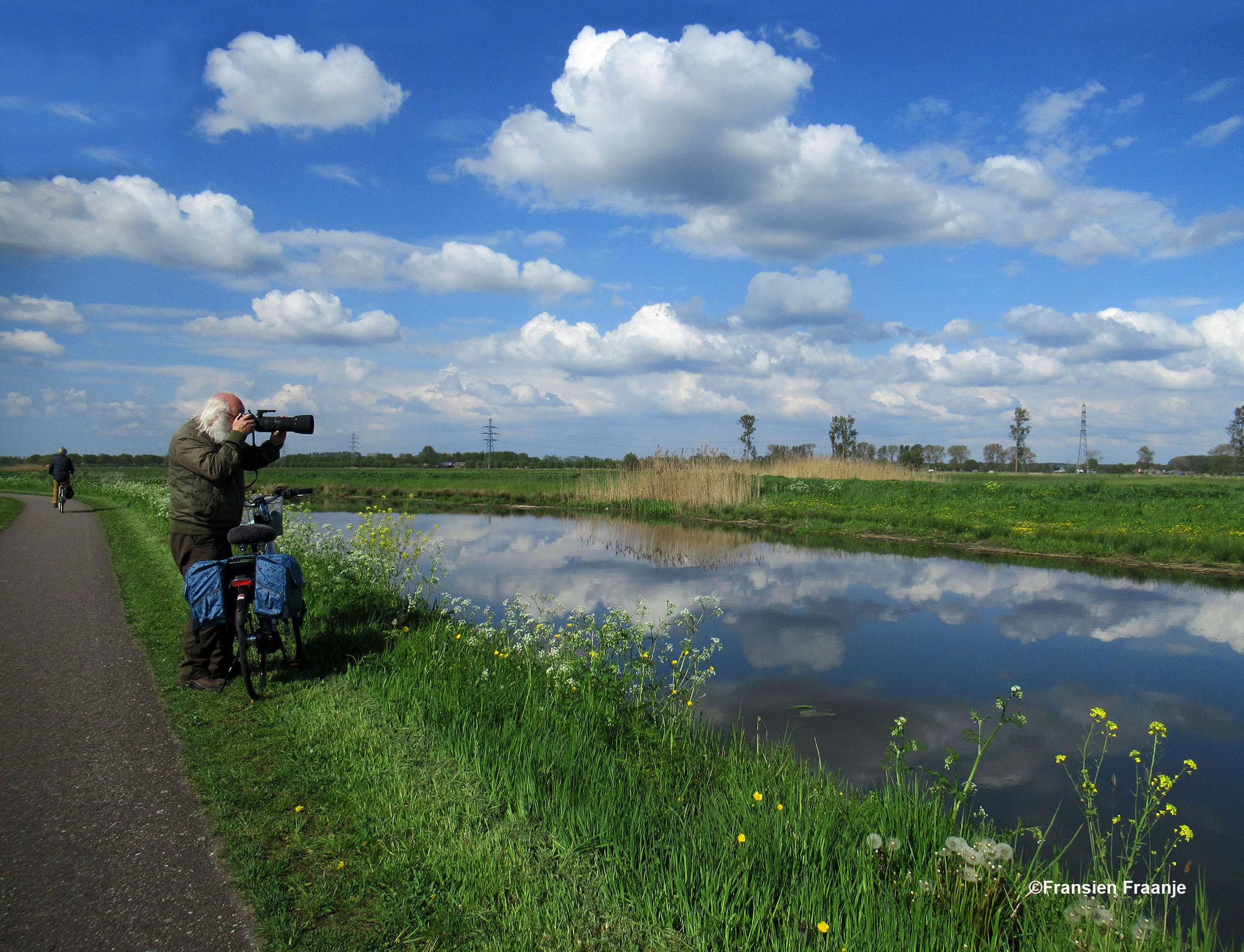 Louis met camera bij de Grift- Foto: ©Fransien Fraanje
