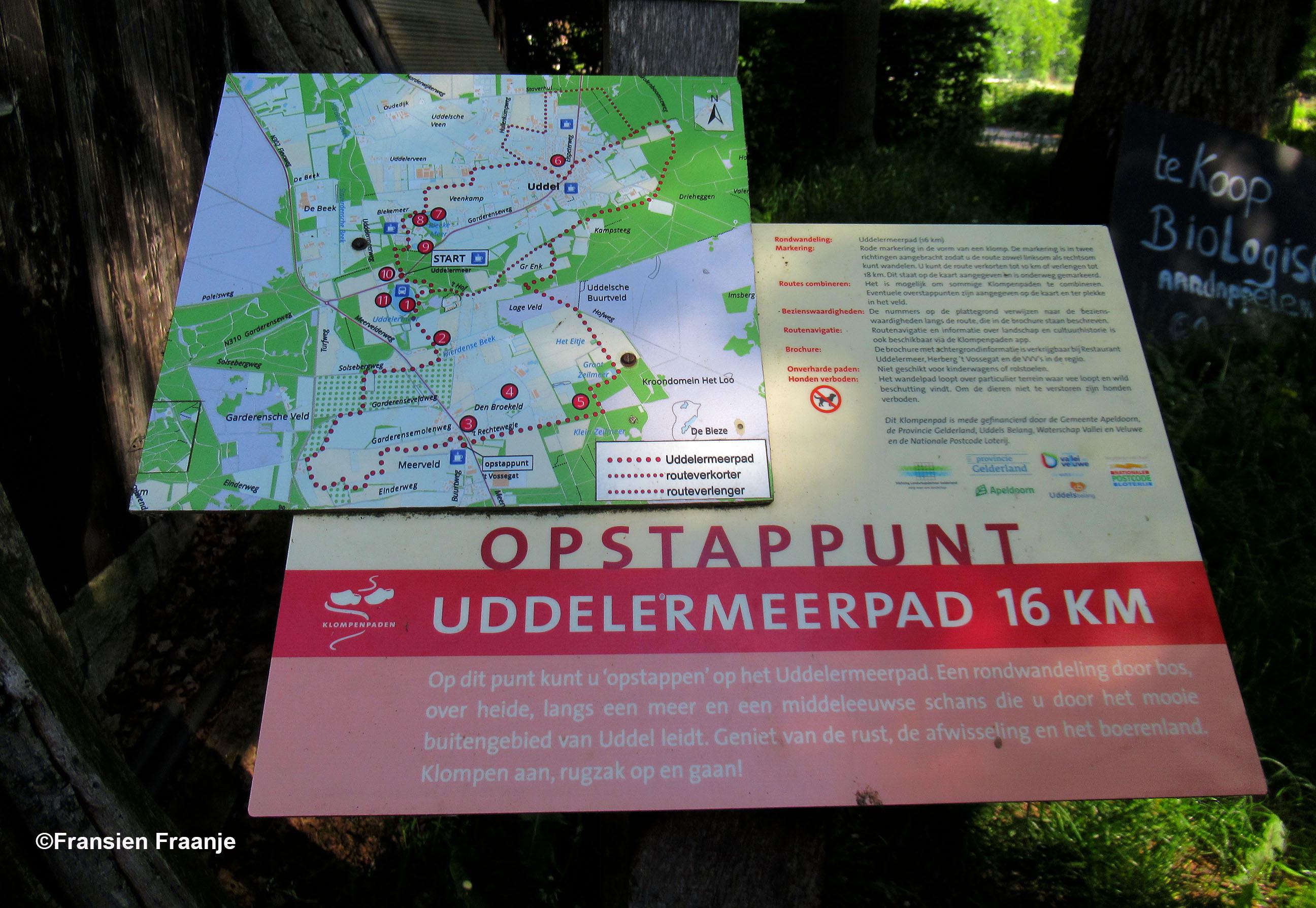 Opstappunt van het Uddelermeerpad met een lengte van van 16 kilometer - Foto: ©Fransien Fraanje
