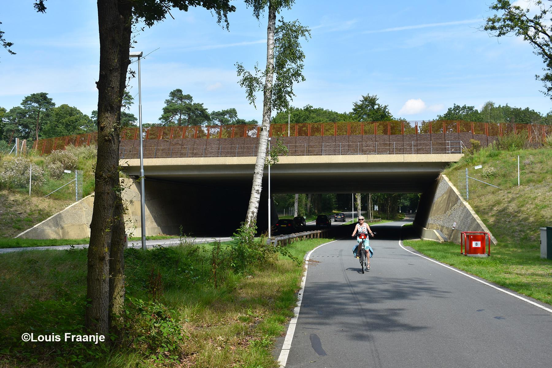 Op de provinciale weg (N227) naar Doorn ligt het ecoduct 'Renée van Notten Wissel' - Foto: ©Louis Fraanje