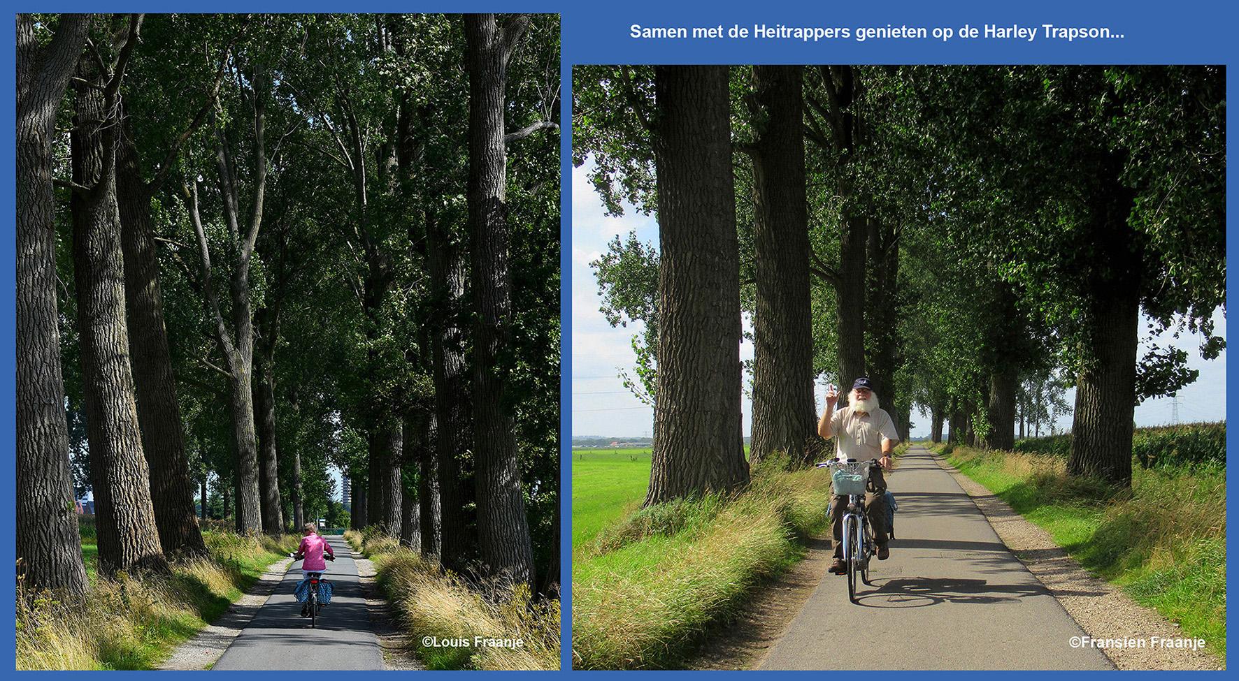 Als wij door dit stukje van de eertijds alom geprezen Veensteeg bij Wageningen fietsen, betreuren wij het dat de rest in noordelijke richting compleet plat gezaagd is. Och... we hebben er veel over geklaagd, maar de meerderheid was het ermee eens. Dus... helaas... maar we laten onze dag er niet door verprutsen! - Foto: ©Fransien en Louis Fraanje