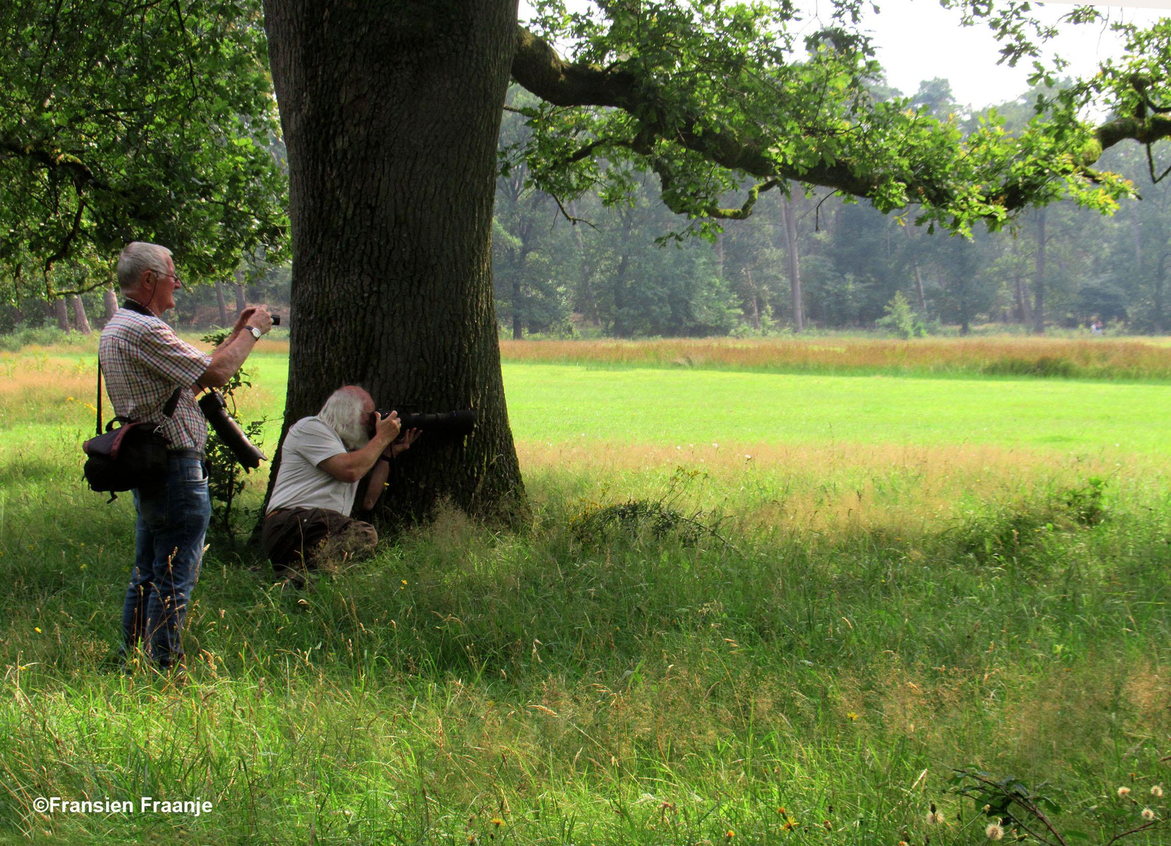 Natuurvrienden Florus en Louis in de schaduw van een oude eikenboom - Foto: ©Fransien Fraanje