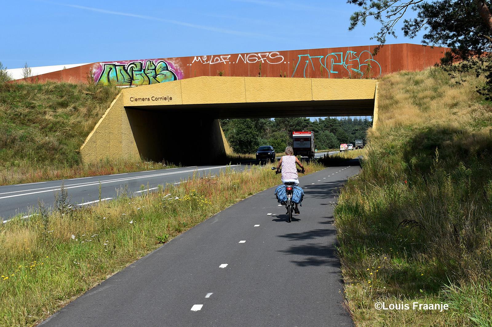 Hier gaan we onder het Ecoduct Clemens Cornielje door naar Nieuw Millingen - Foto: ©Louis Fraanje