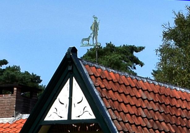 Windvaan op het dak - Foto: ©Louis Fraanje