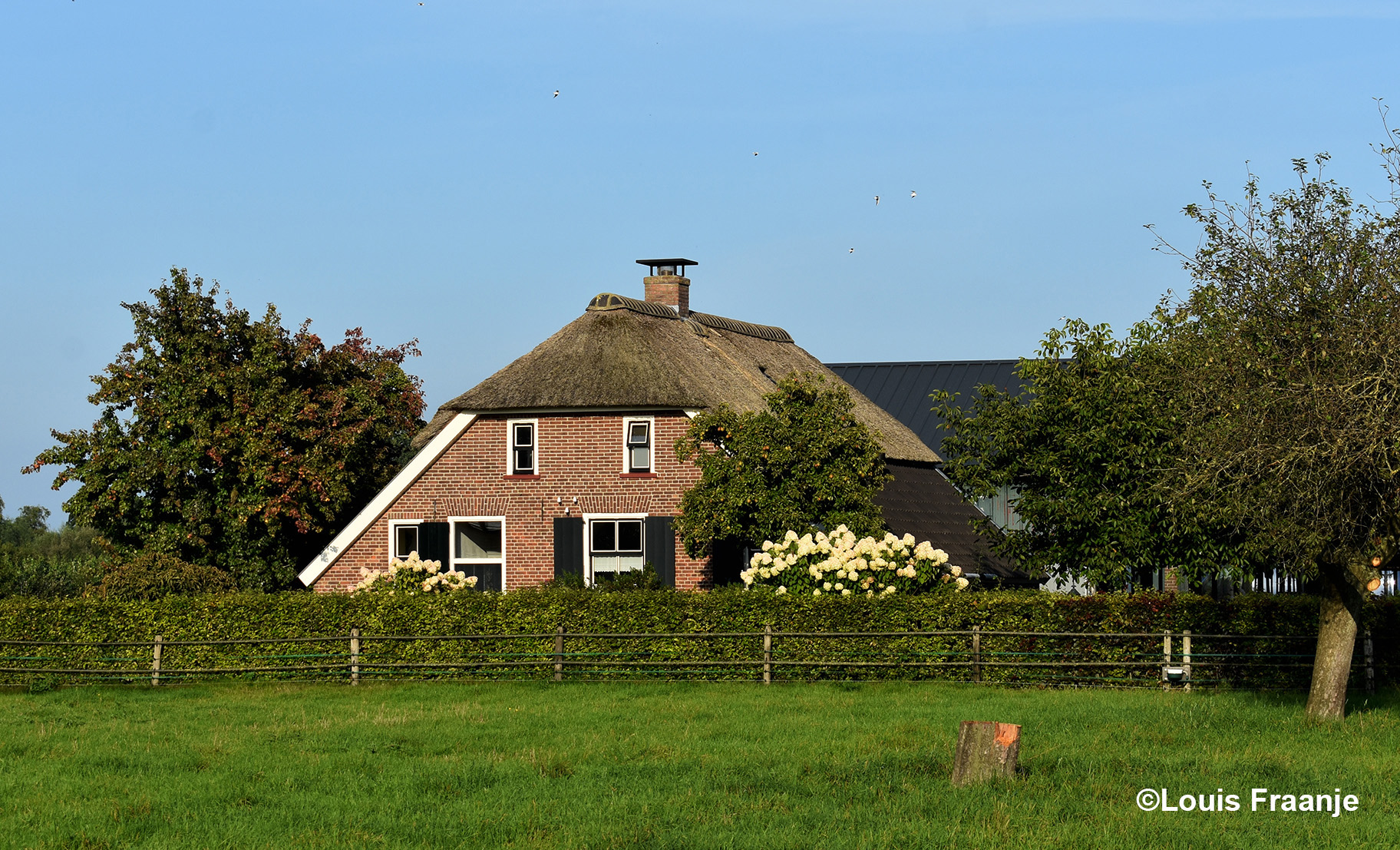 Het prachtige boerderijtje aan de Poelweg in Ederveen mag natuurlijk niet ontbreken op onze tocht naor huus - Foto: ©Louis Fraanje