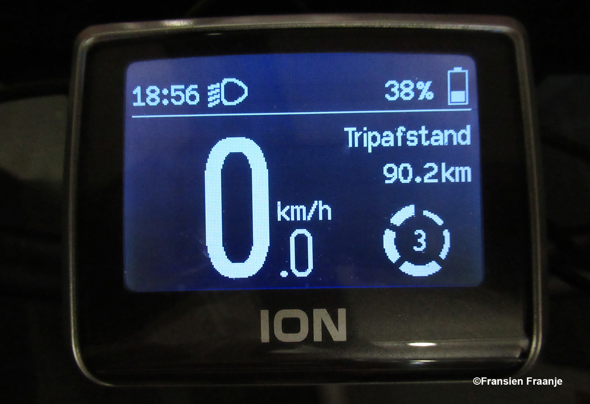 En aan het einde van de rit stond de teller op 90.2 kilometer. Zo dat was een hele rit, maar we hebben genoten! - Foto: ©Fransien Fraanje